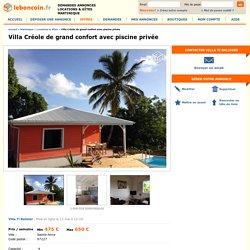 Villa Créole de grand confort avec piscine privée Locations & Gîtes Martinique