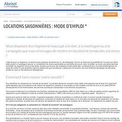 Locations saisonnières : mode d'emploi, les conseils de l'UNPI pour lo...