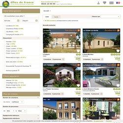 Locations de vacances Gîtes de France®. 60 000 offres locations vacances en France