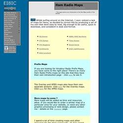 Ham Radio Maps - CQ zone, ITU zone, Grid Locator, ARRL RAC Section, Overlay, Great Circle, Lighthouse, Callsign Prefix