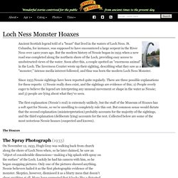 Loch Ness Monster Hoaxes