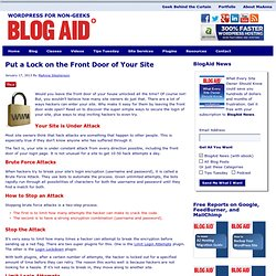 Put a Lock on the Front Door of Your Site