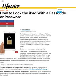 How to Lock the iPad With a Passcode or Password