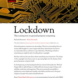 Lockdown: The coming war on general-purpose computing