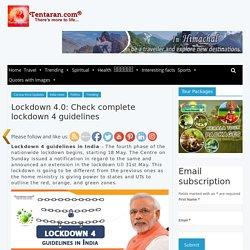 lockdown 4 guidelines in India
