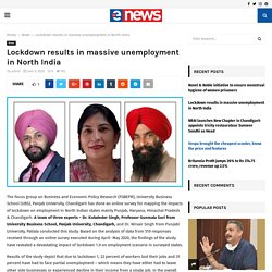 Lockdown results in massive unemployment in North India