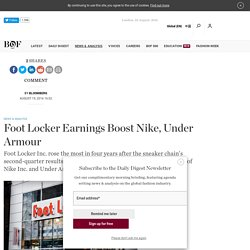 Foot Locker Earnings Boost Nike, Under Armour