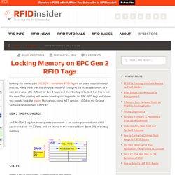Locking Memory on EPC Gen 2 RFID Tags - RFID insider