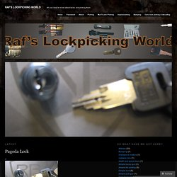 Raf's lockpicking world