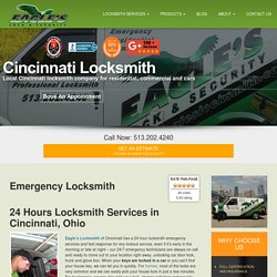 513-202-4240 Eagle's Locksmith Cincinnati is a A Local Locksmith Company Providing 24 Hours Emergency Locksmith Services in the Entire Cincinnati, OH Area