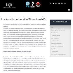 Locksmith Lutherville Timonium MD