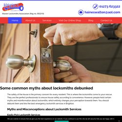 Locksmith services and some common myths about it