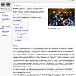 Locksport - Lockwiki