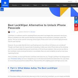 4uKey - Best LockWiper Alternative 2020: Bypass iPhone Passcode