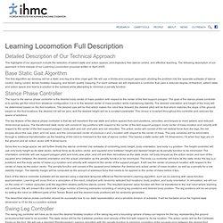 Learning Locomotion Full Description