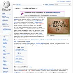 Anexo:Locuciones latinas