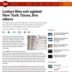 Lodsys files suit against New York Times, five others