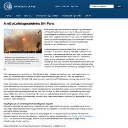 Á leið á Loftslagsráðstefnu SÞ í París
