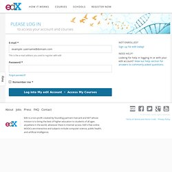 Log into your edX Account