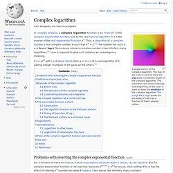 Complex logarithm