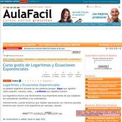 Curso gratis de Logaritmos y Ecuaciones Exponenciales - Logarítmos y Ecuaciones Exponenciales