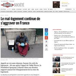 Le mal-logement continue de s'aggraver en France