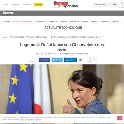Logement: Duflot lance son Observatoire des loyers