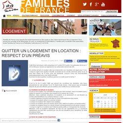Quitter un logement en location : respect d'un préavis