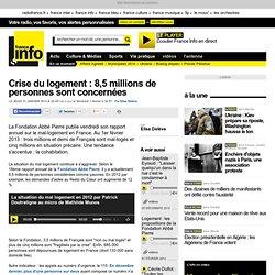 Crise du logement : 8,5 millions de personnes sont concernées - Société