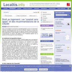 Droit au logement : un constat sans appel et des recommandations de la CNCDH