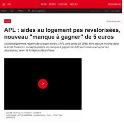 """APL : aides au logement pas revalorisées, nouveau """"manque à gagner"""" de 5 euros"""