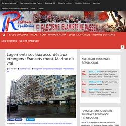 Logements sociaux accordés aux étrangers : Francetv ment, Marine dit vrai