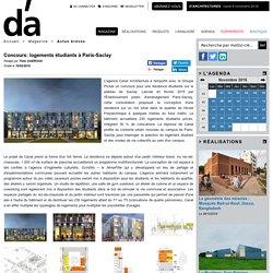 Concours: logements étudiants à Paris-Saclay - D'architectures