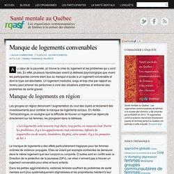 Santé mentale au Québec, une enquête du RQASF