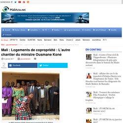 Logements de copropriété : L'autre chantier du ministre Ousmane Koné