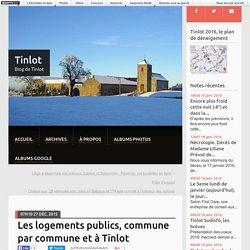 Les logements publics, commune par commune et à Tinlot - Tinlot
