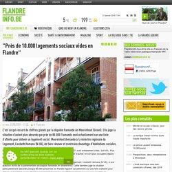 """""""Près de 10.000 logements sociaux vides en Flandre"""""""