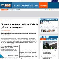 Chasse aux logements vides en Wallonie grâce à... vos compteurs