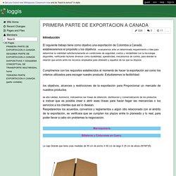 loggis - PRIMERA PARTE DE EXPORTACION A CANADA