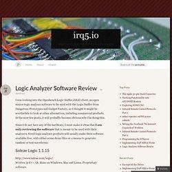 Logic Analyzer Software Review « irq5.io