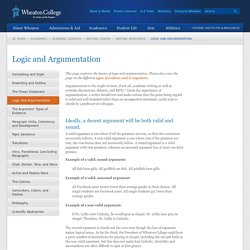 Logic and Argumentation in Essays