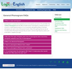 Logic of English - Phonograms FAQs