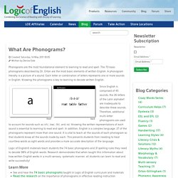 Logic of English - What Are Phonograms?