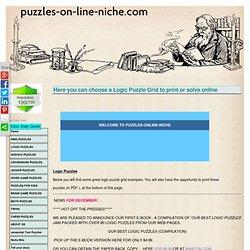 Logic Puzzle Grid, Free Printable Logic Puzzles, Logic Puzzle