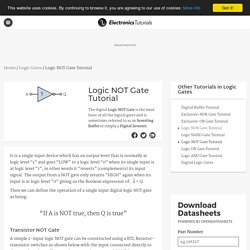 Logic NOT Gate Tutorial with Logic NOT Gate Truth Table