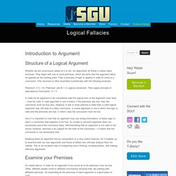 Top 20 Logical Fallacies