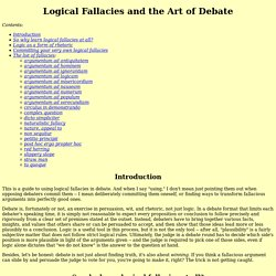Logical Fallacies and the Art of Debate