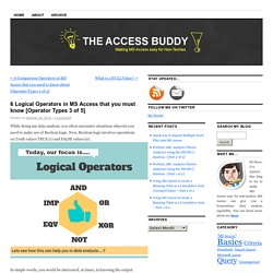 6 Logical Operators in MS Access that you must know