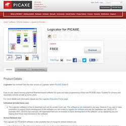 Logicator for PICAXE (LGC010) - Software