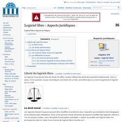 Logiciel libre/Aspects juridiques